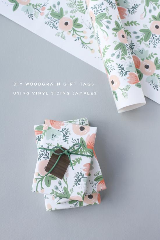 DIY // woodgrain gift tags