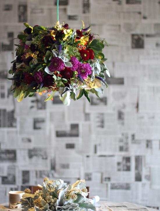 diy flower lampshade