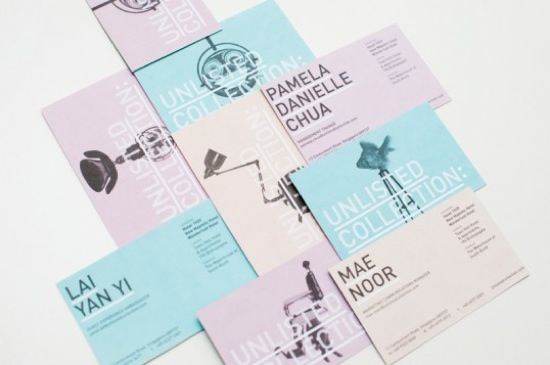 awesome pastel business cards