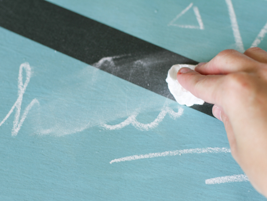 Chalkboard Fabric Placemat DIY