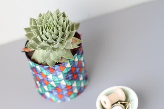 DIY fabric vase project