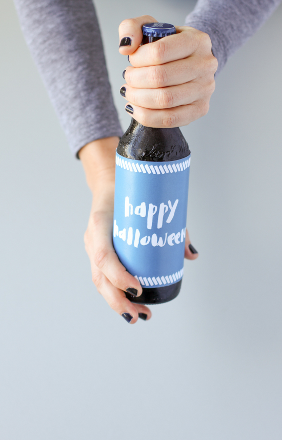 Halloween Printables // Bottle Label
