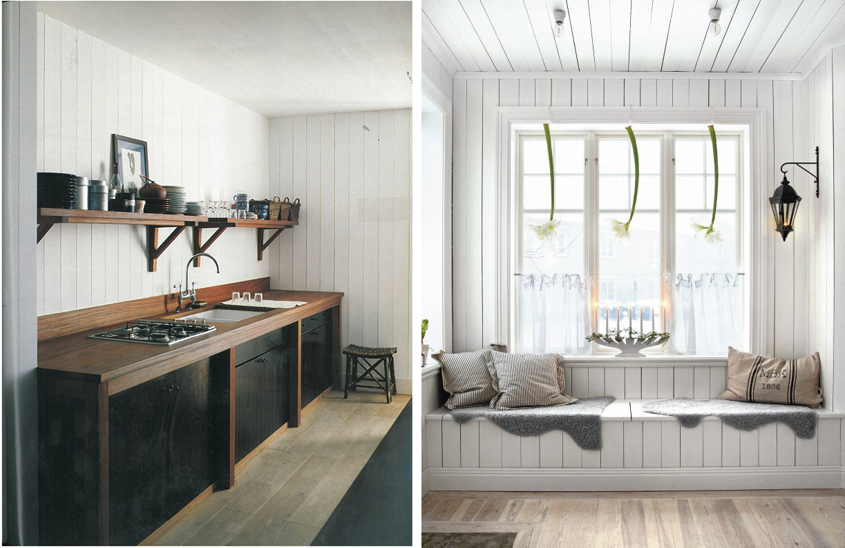Interior Obsessions â Painted Wood Walls
