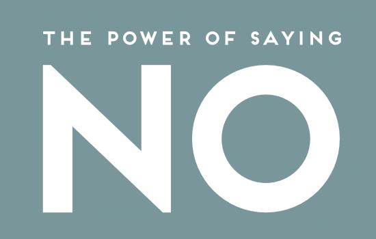 Saying No.