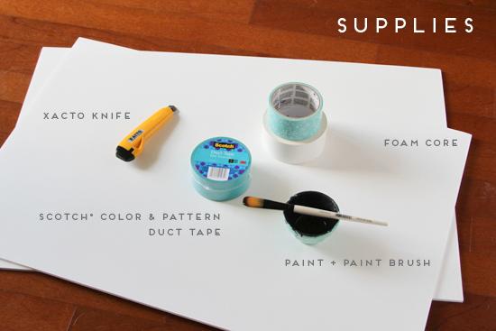 holiday wall art - supplies