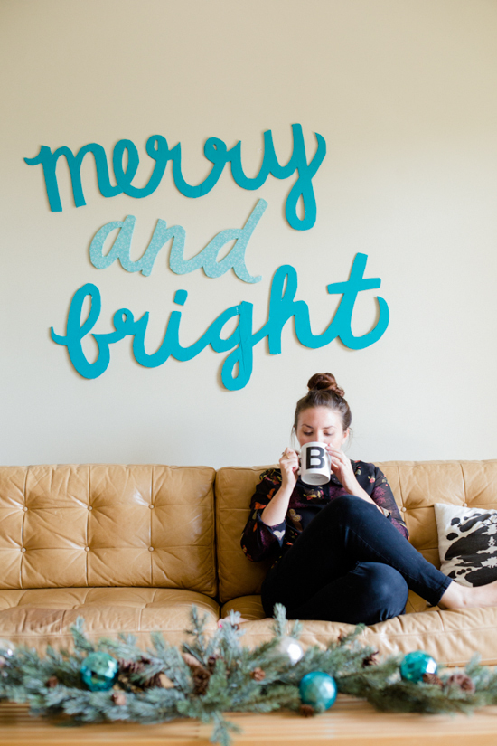 Holiday DIY // Merry and Bright Wall Art