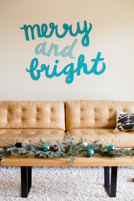 Merry & Bright Holiday Wall Art DIY