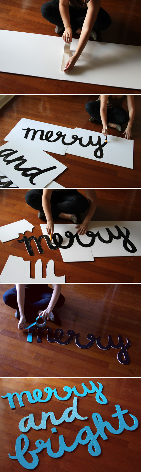 How to Make a Giant Holiday Sign