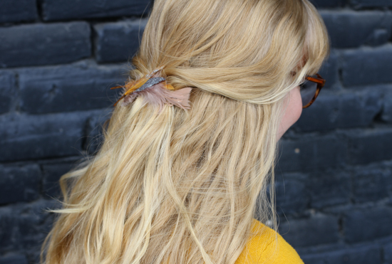 DIY Feather Hair Accessory