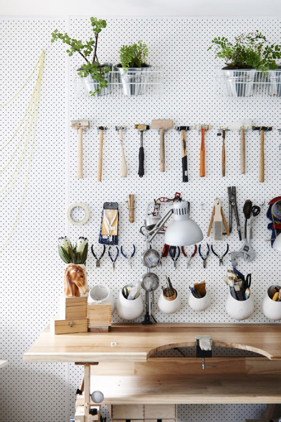 A Tidy Workspace with Pegboard