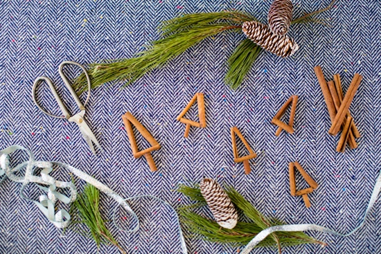 cinnamon christmas tree cake toppers project