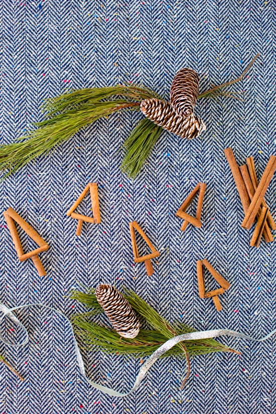 christmas trees made of cinnamon sticks