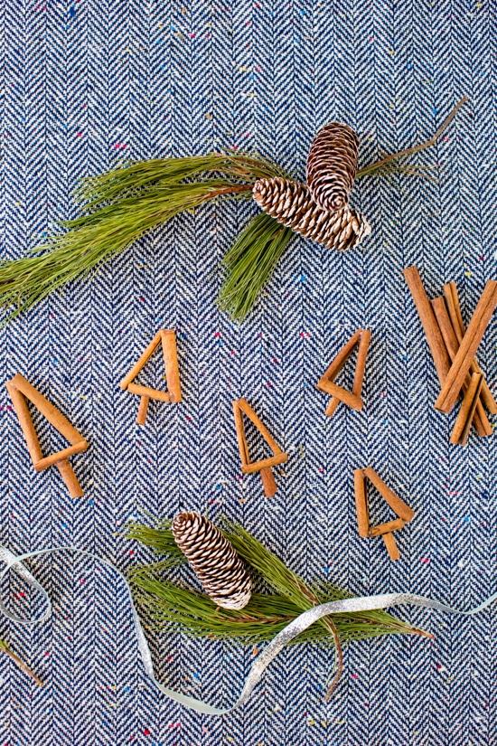 christmas trees made of cinnamon sticks