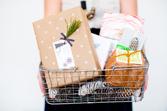 A Basket of Packages / Merry Christmas