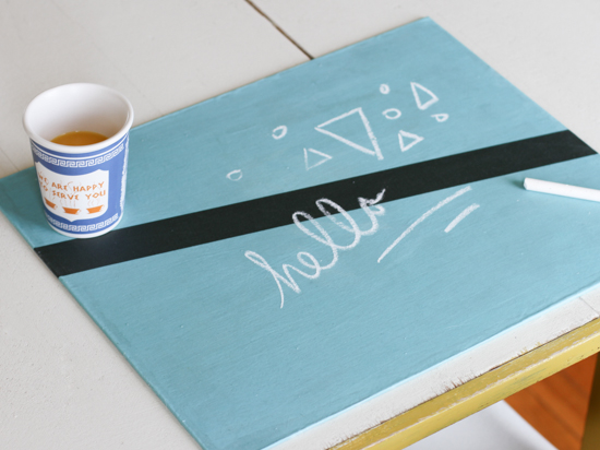 Hello There // DIY Fabric Chalkboard for DIY Network