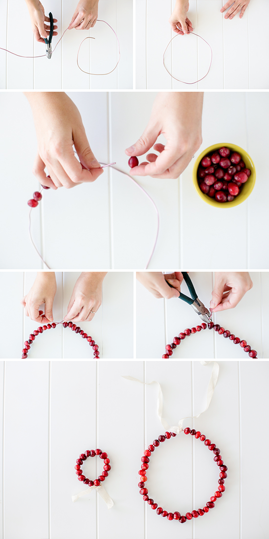 Christmas tutorial: cranberry crown + wreath