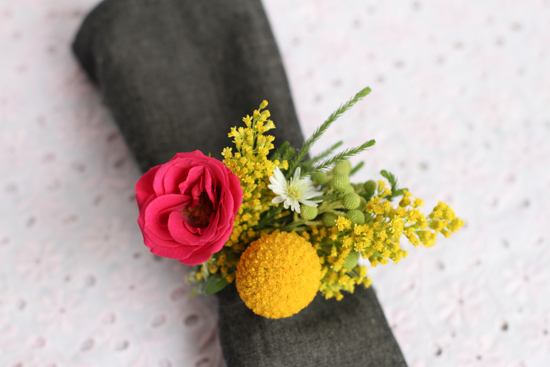 Flower Napkin Ring DIY for Project Wedding