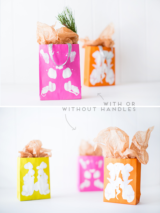 Holiday Gift Bags DIY with or without handles