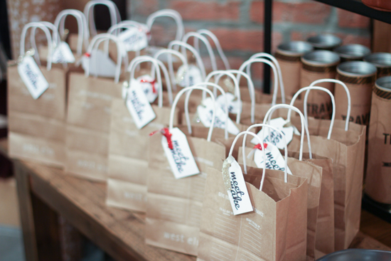 gift bags for West Elm event