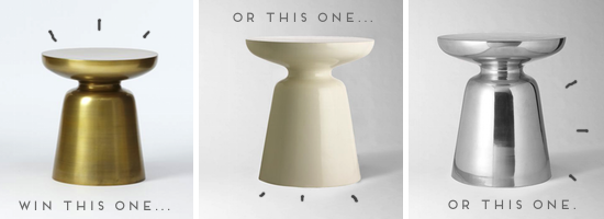 Win this side table from West Elm