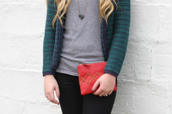 DIY // Stitched Clutch for the Holidays