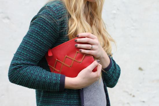 Make This: Stitched Clutch DIY