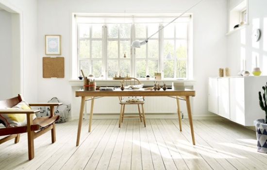 cool workspace with a great big window