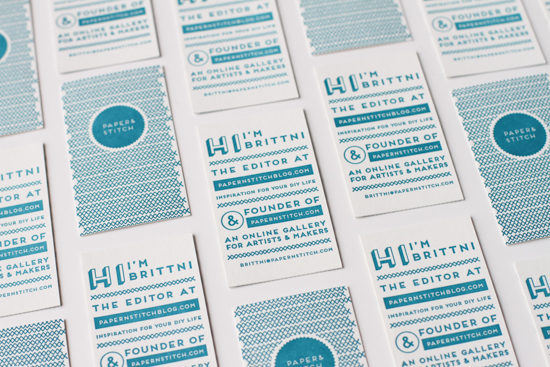 Business Cards from Paper & Stitch