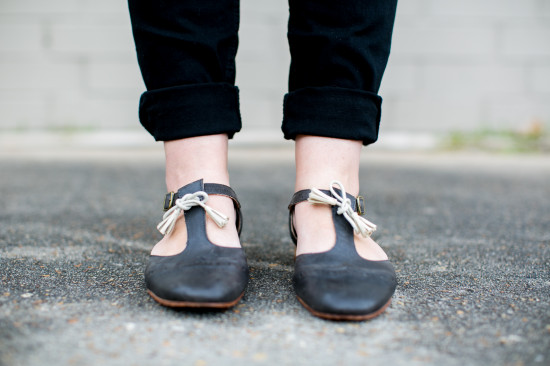buckled flats with leather tassels