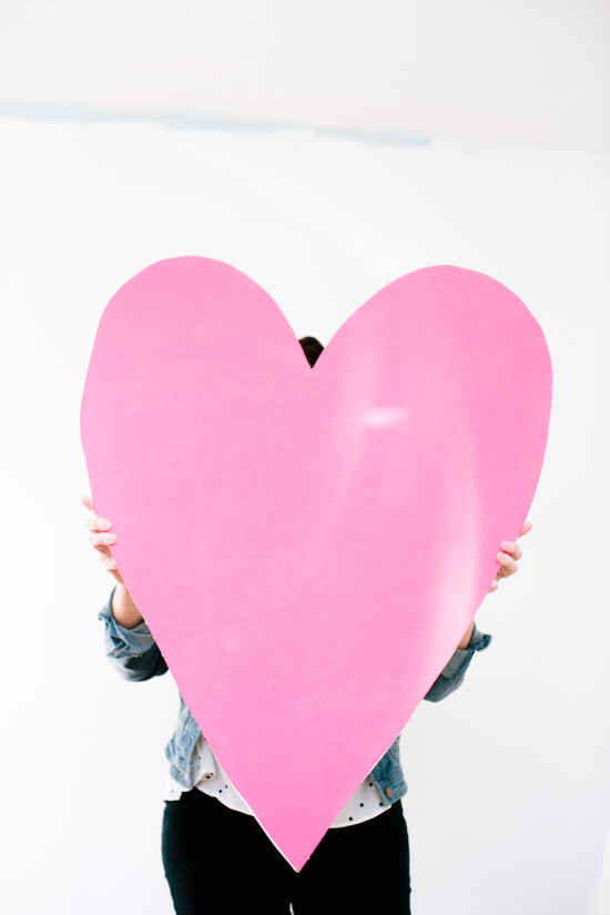 Valentine DIY // giant heart art project