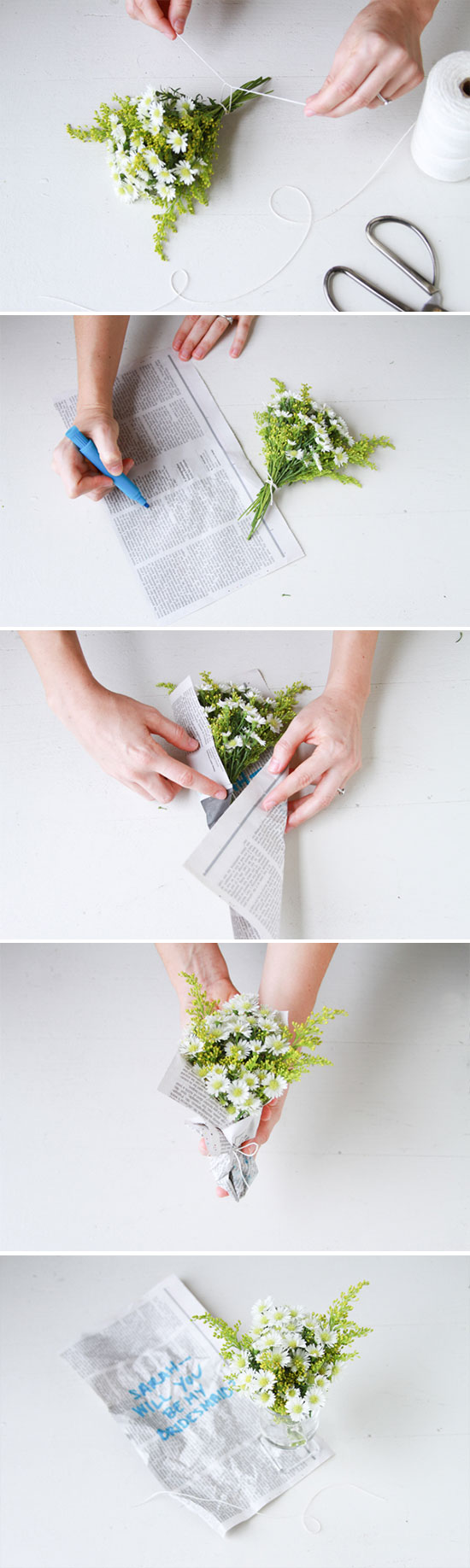 DIY Flowers // secret message bouquet