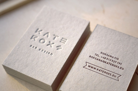 Cool Business Cards // Kate Roxs