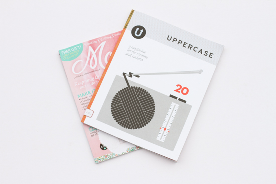 Two Faves: Uppercase & Mollie Makes