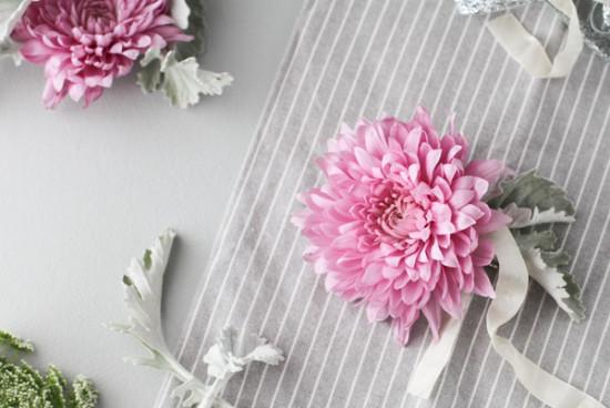 fresh flower DIY hair barrette