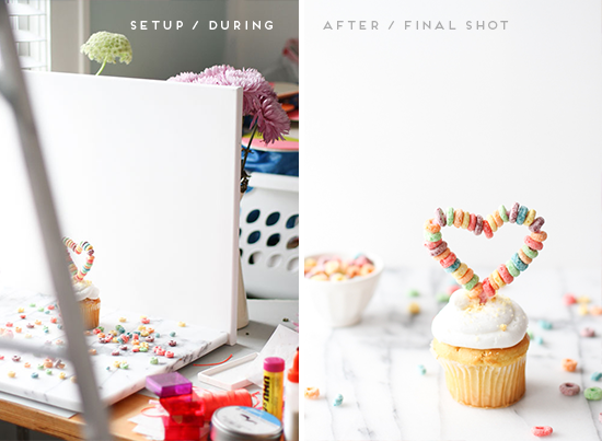 before and after // styling tips for DIY projects