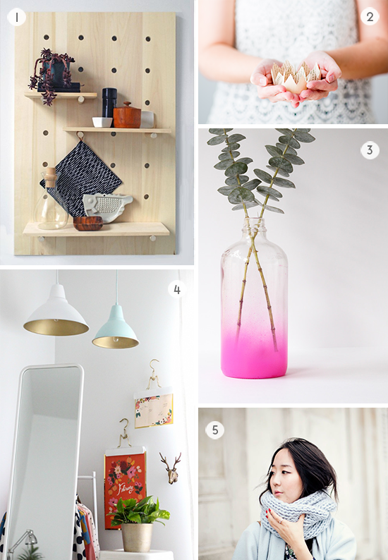 5 DIYs to Try / shelving, paper crowns, and more