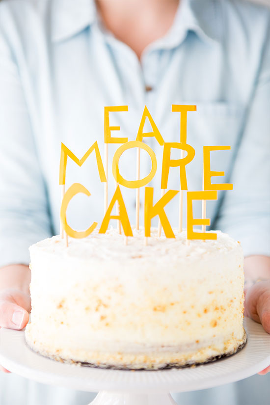 DIY // Eat More Cake