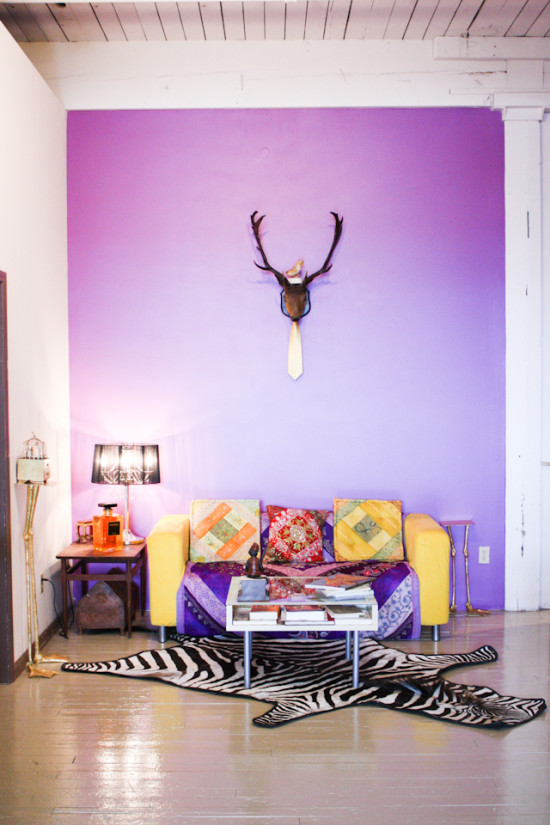 interior obsession // lilac statement wall in Seattle studio