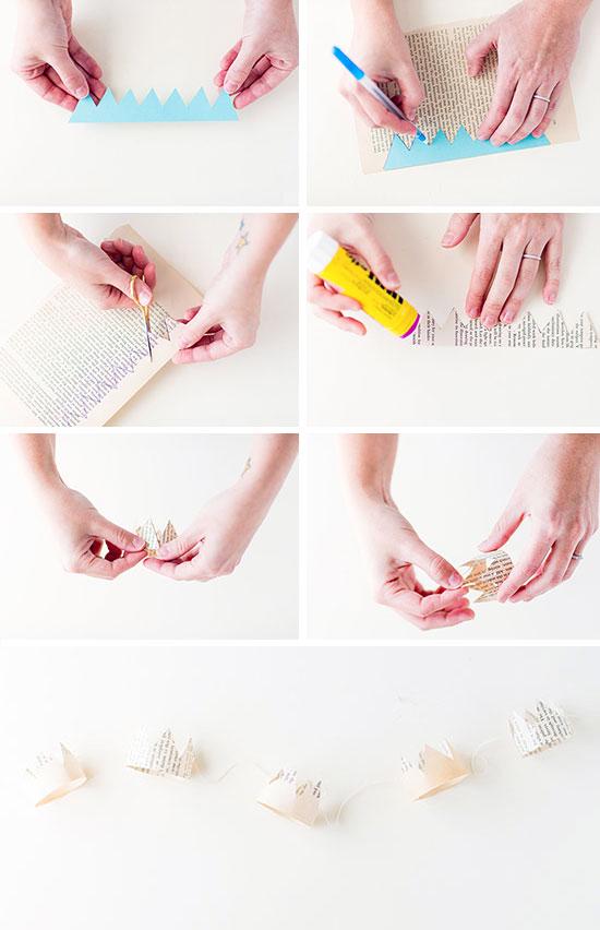 tutorial: paper crown garland