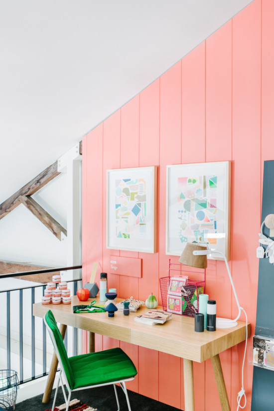 interior obsession // salmon wall