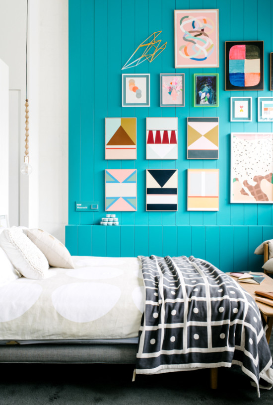 interior obsession // turquoise wall in bedroom