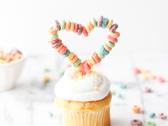 heart shaped cupcake topper for V-Day