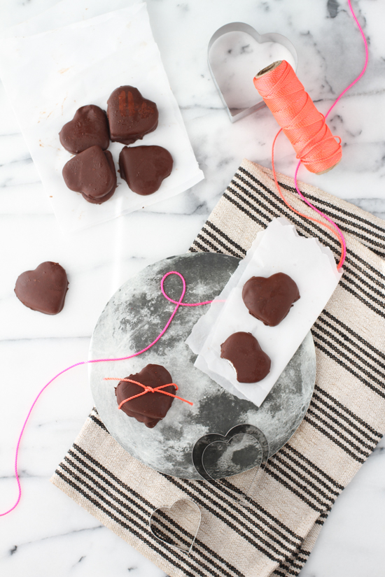 organic heart-shaped peppermint patties recipe for Valentine's Day