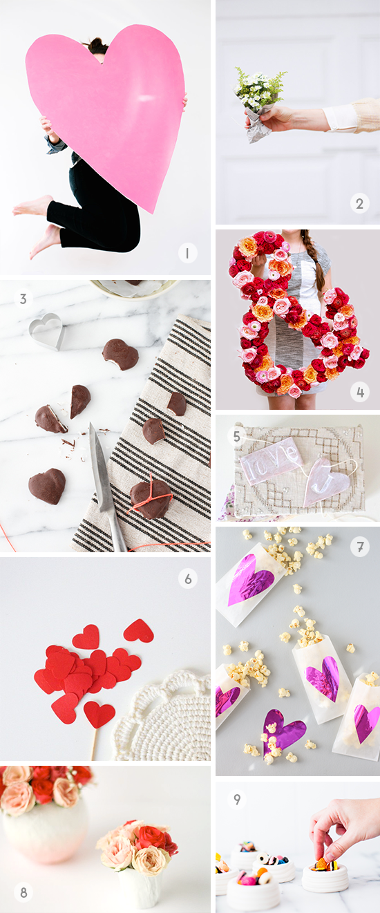 Valentine DIY Roundup // 9 weekend projects for V-Day