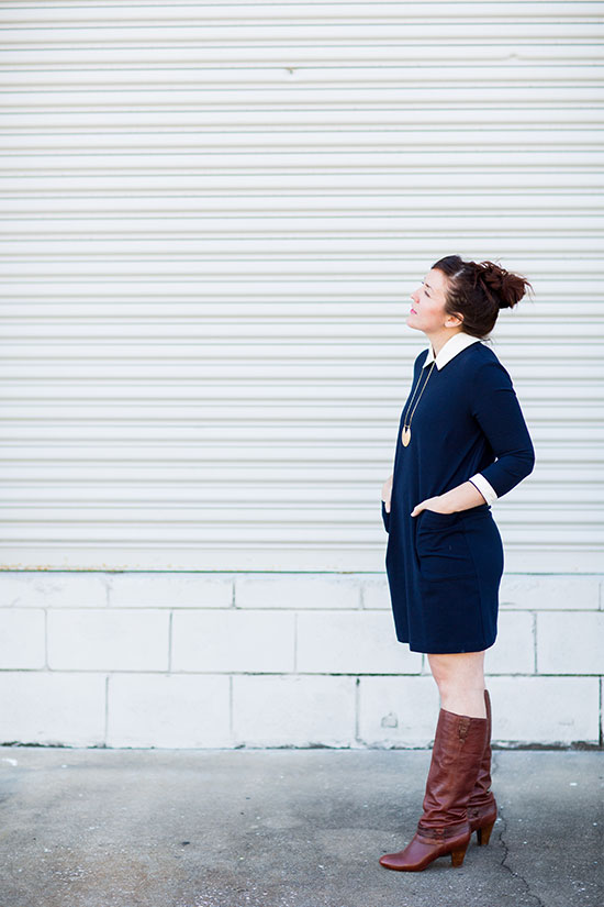 Wear This // Navy Dress