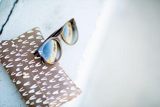 Falcon Wright Clutch + Celine Sunglasses