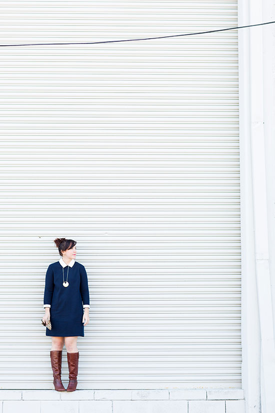 Wear This // Navy Shift Dress