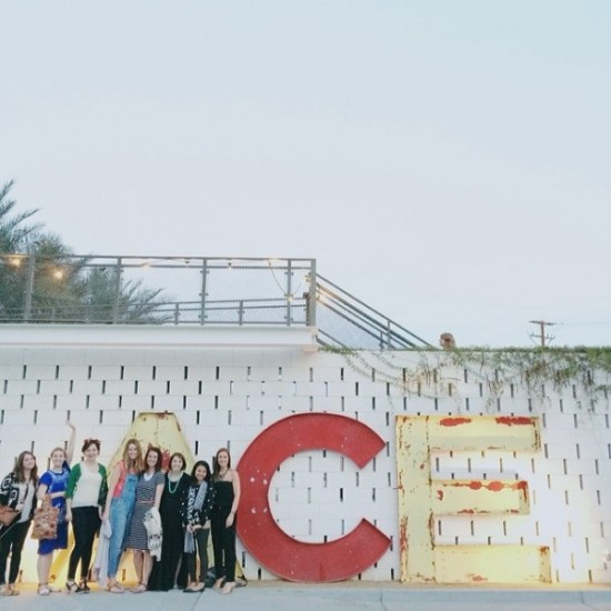 Ace Dinner with Minted in Palm Springs (group photo)