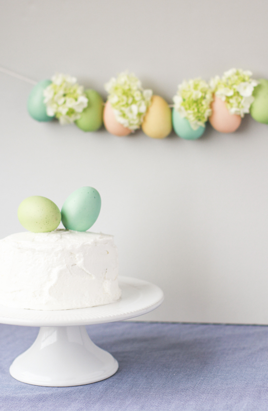 how to make a unique spring garland for easter