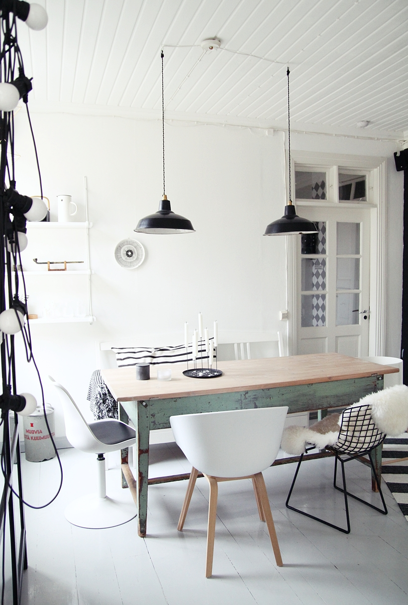 Every chair is different . And it total works in this modern farmhouse ...